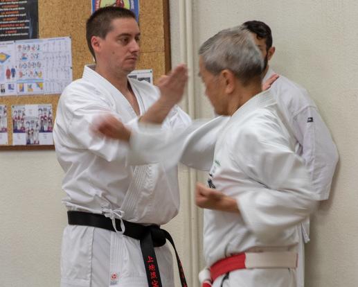 Lionel Reynaud avec Shimabukuro Sensei